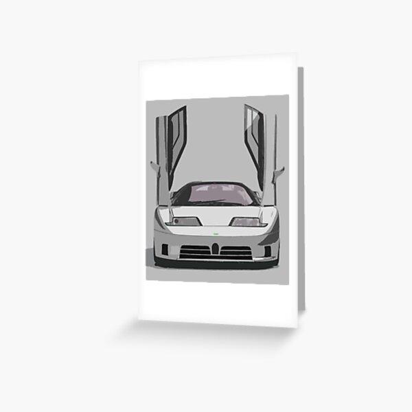 Bugatti EB110 Greeting Card