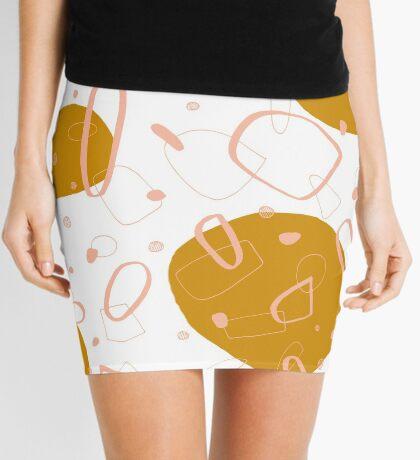 Doodle Pattern 03 #redbubble #doodle #pattern Mini Skirt