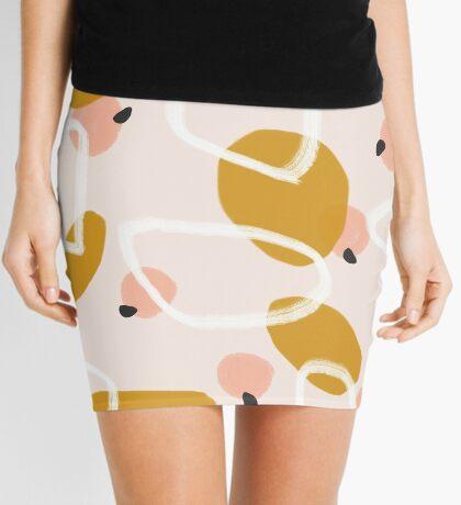 Abstract Fall III #redbubble #abstractart Mini Skirt