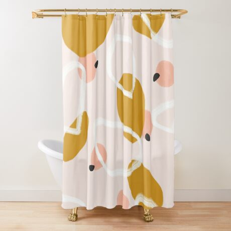 Abstract Fall III #redbubble #abstractart Shower Curtain