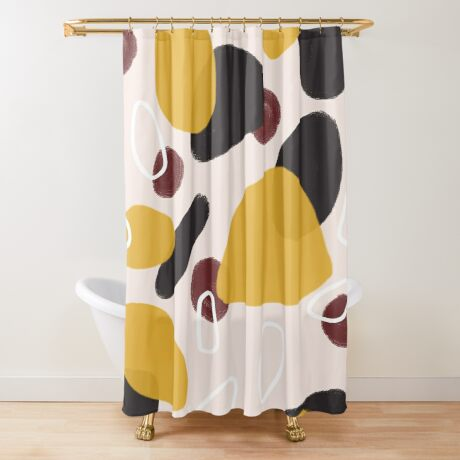 Abstract Fall I #redbubble #abstractart Shower Curtain
