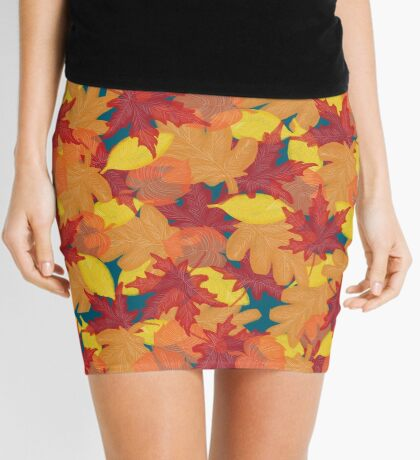 Bright Fall #redbubble #fall Mini Skirt