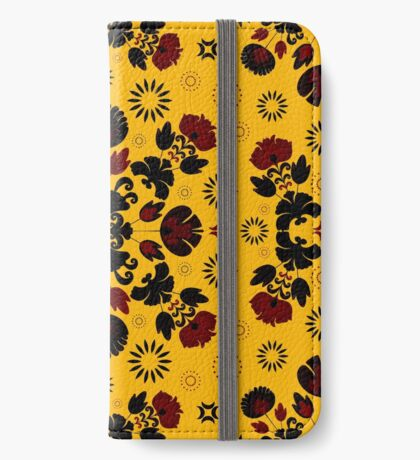 Fiesta Folk Yellow #redbubble #folk iPhone Wallet