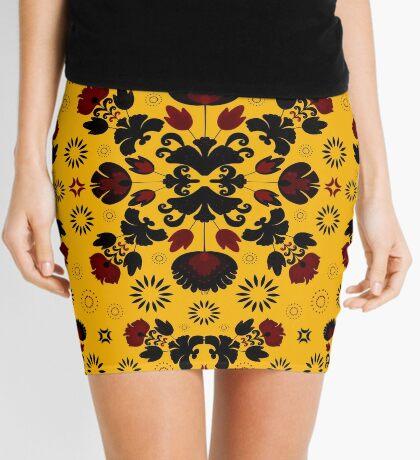 Fiesta Folk Yellow #redbubble #folk Mini Skirt