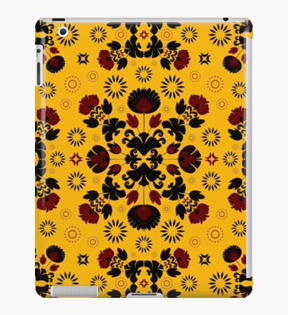 Fiesta Folk Yellow #redbubble #folk iPad Case/Skin