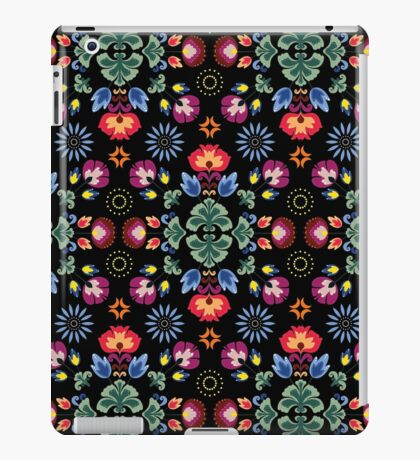 Fiesta Folk Black #redbubble #folk iPad Case/Skin