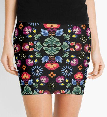 Fiesta Folk Black #redbubble #folk Mini Skirt