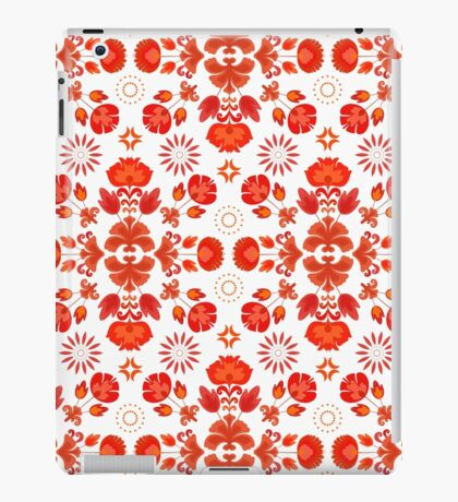 Fiesta Folk Red #redbubble #folk iPad Case/Skin
