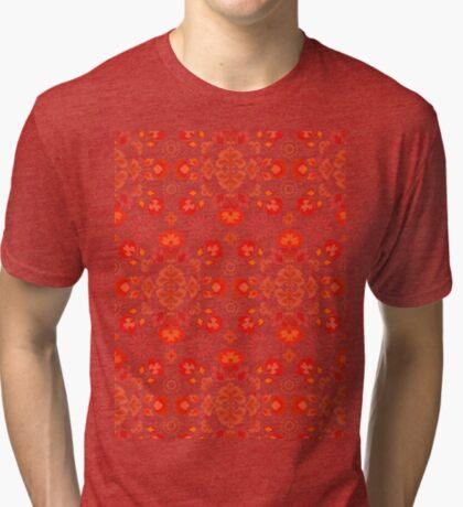 Fiesta Folk Red #redbubble #folk Tri-blend T-Shirt