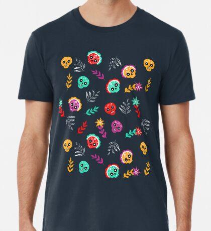 Fiesta Skulls #redbubble #skulls Premium T-Shirt