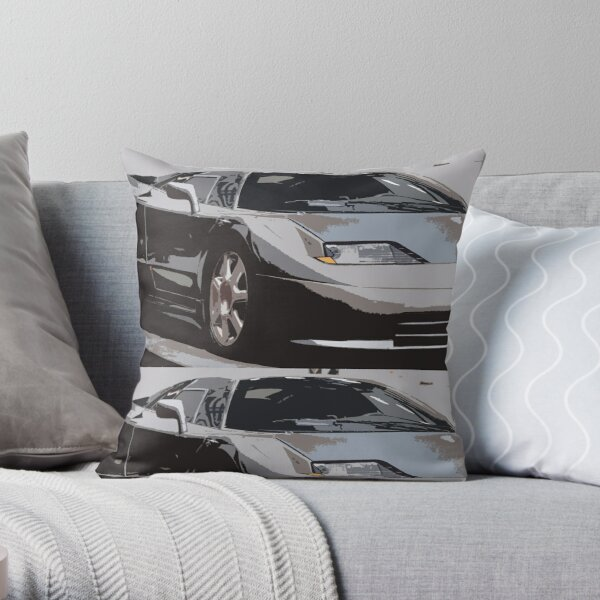 Bugatti EB110 Throw Pillow