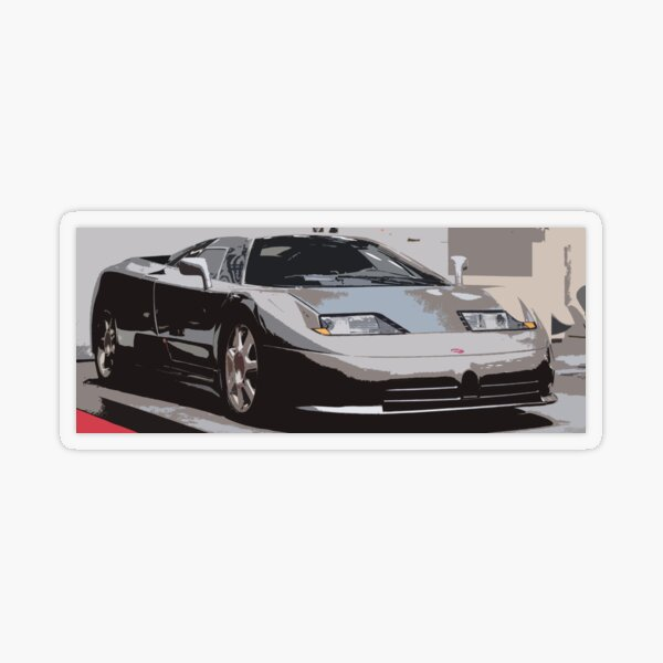 Bugatti EB110 Transparent Sticker