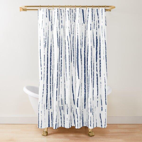 Shibori Rain Shower Curtain