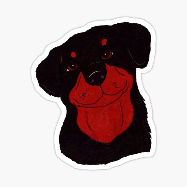 Thoughtful Rottweiler Sticker