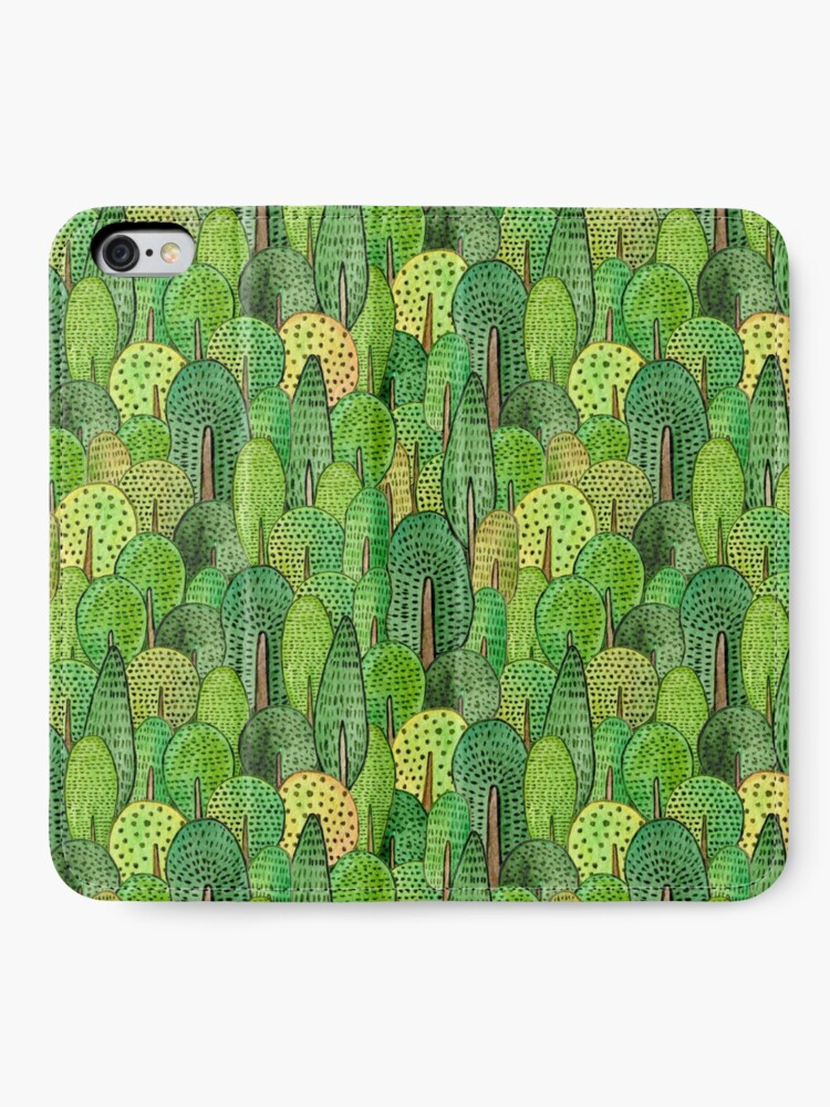 Alternate view of Watercolor forest iPhone Wallet