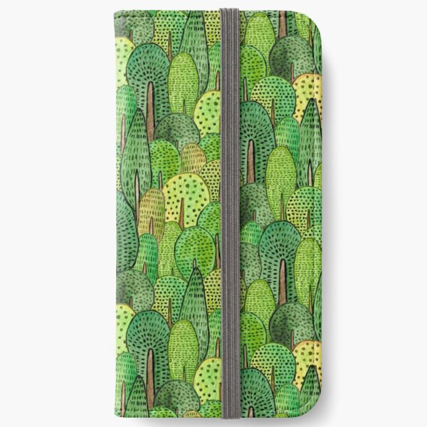 Watercolor forest iPhone Wallet