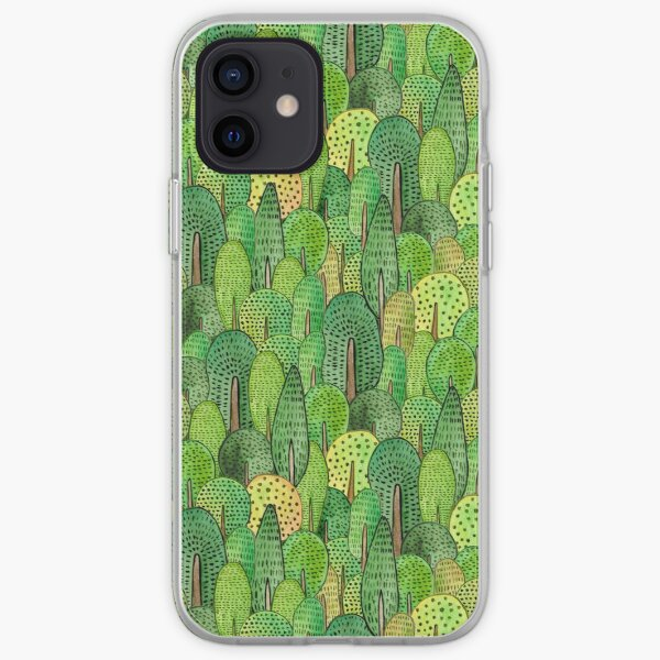 Watercolor forest iPhone Soft Case