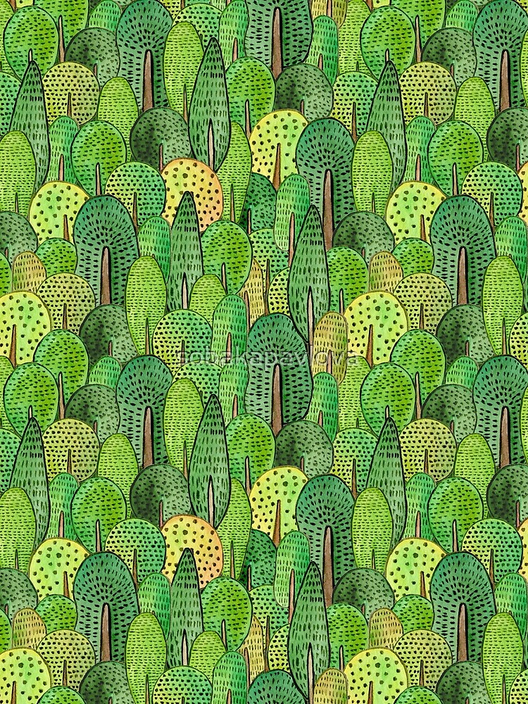 Aquarell Wald von sobakapavlova