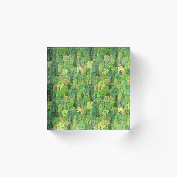 Watercolor forest Acrylic Block