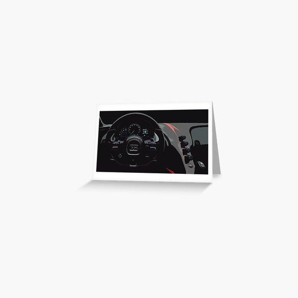 Bugatti Chiron Sport Interior Greeting Card