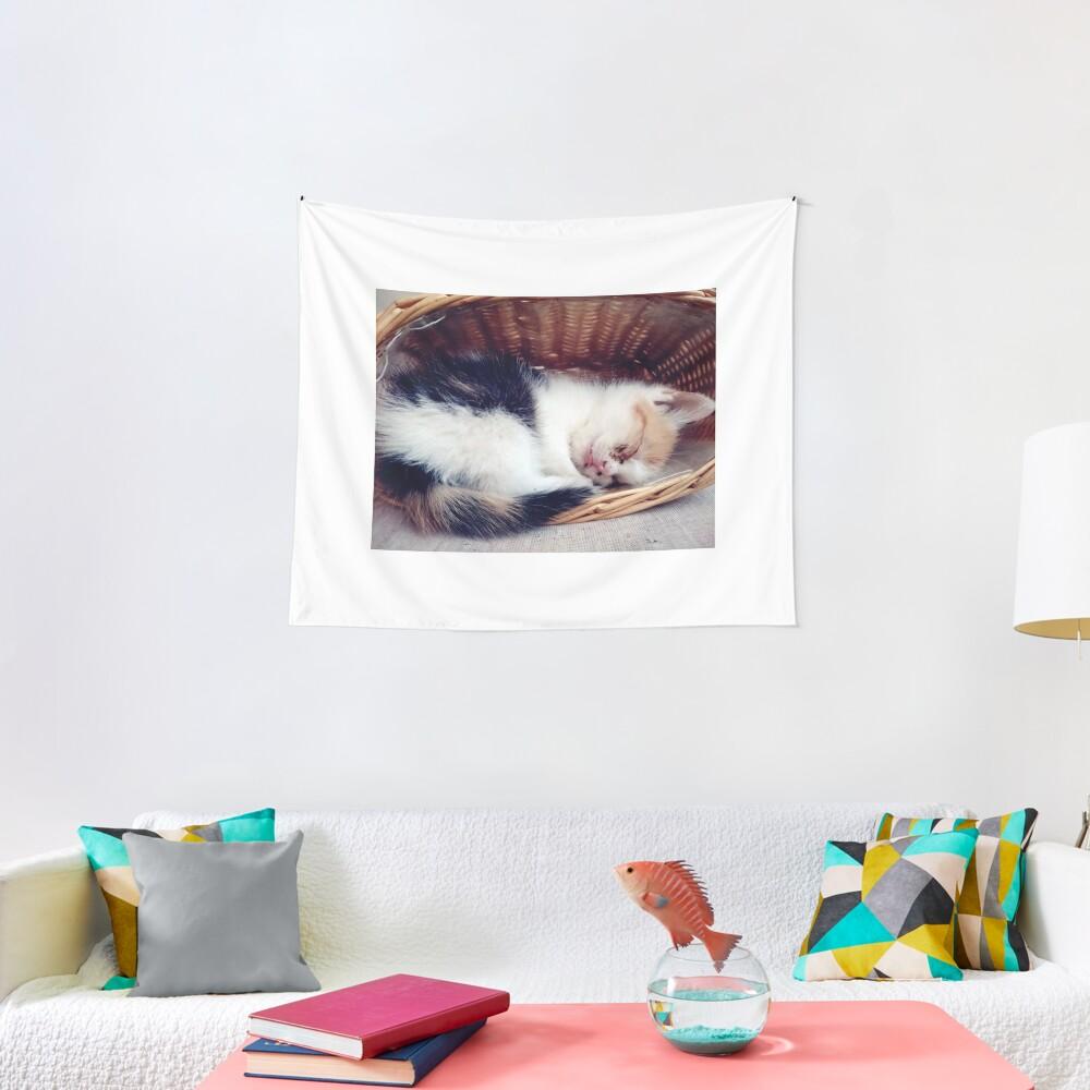 Süßer Katzen-Traum Wandbehang