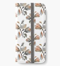 Watercolor Magnolia in Autumn iPhone Wallet/Case/Skin
