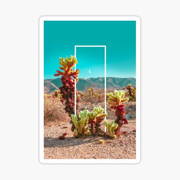 Cholla Cactus Garden Geo Sticker