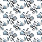 Dusty Blue Magnolia Pattern by IconicTee