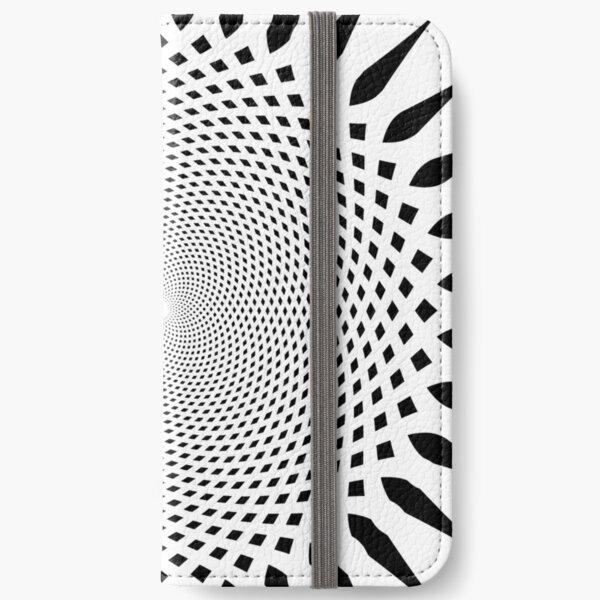 #MOVING #EYE #ILLUSION #Pattern, design, circular, abstract, illustration, art iPhone Wallet