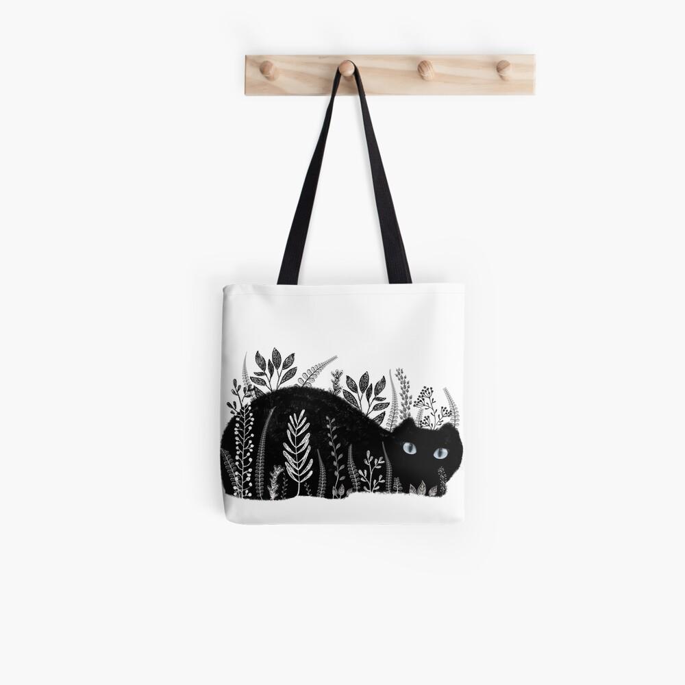 Garten Katze in Schwarz und Weiß Tote Bag
