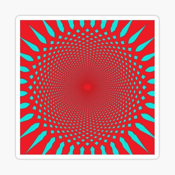 #MOVING #EYE #ILLUSION #Pattern, design, circular, abstract, illustration, art Sticker