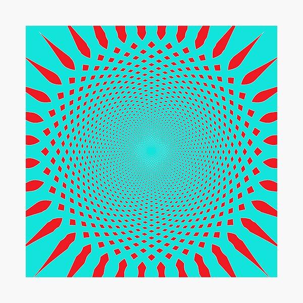 #MOVING #EYE #ILLUSION #Pattern, design, circular, abstract, illustration, art Photographic Print