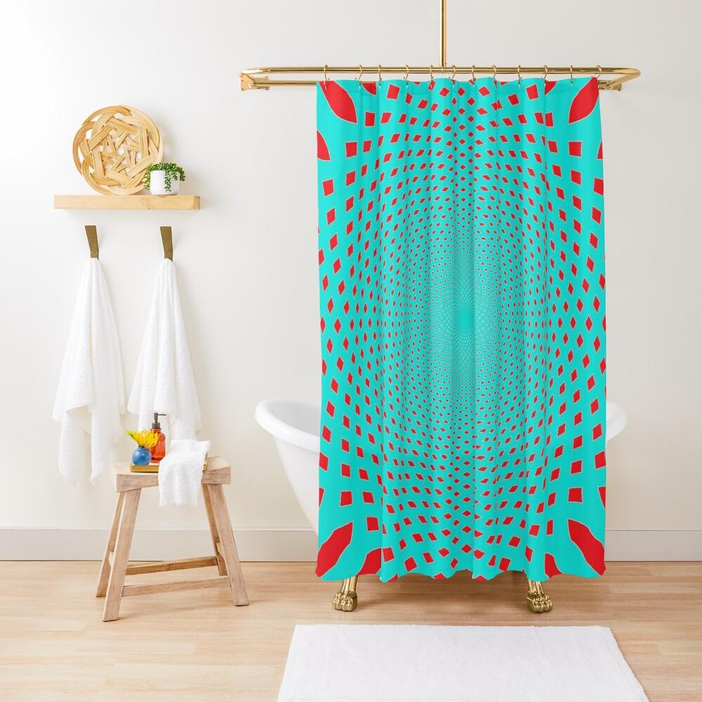 #MOVING #EYE #ILLUSION #Pattern, design, circular, abstract, illustration, art Shower Curtain