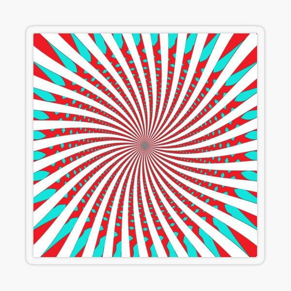 #MOVING #EYE #ILLUSION #Pattern, design, circular, abstract, illustration, art Transparent Sticker