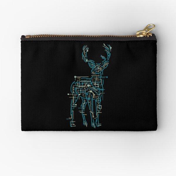 Cyber Deer Zipper Pouch