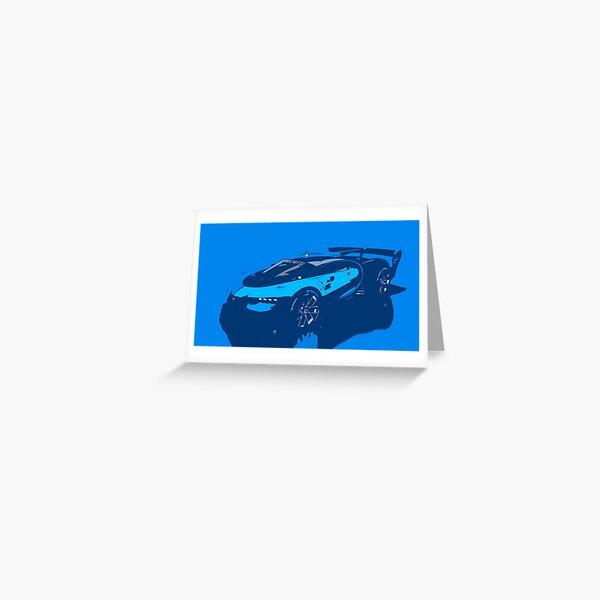 Bugatti Vision Gran Turismo Greeting Card