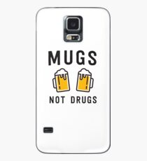 Beer mugs not drugs Hülle & Klebefolie für Samsung Galaxy