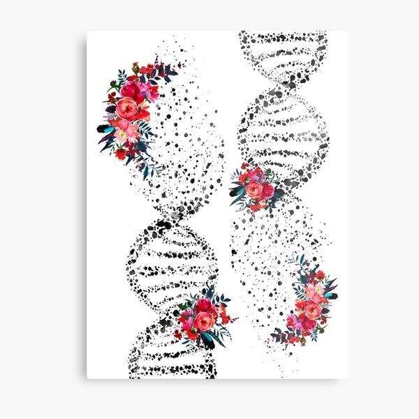 Dna Art Print Double Helix Science Art Watercolor Poster Genetics Art Print Abstract DNA Illustration