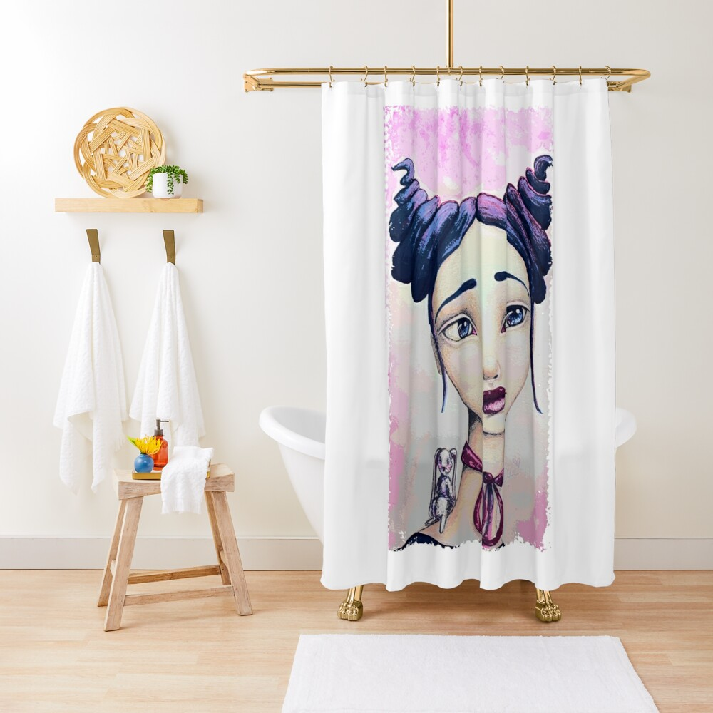 Bunny and Me Shower Curtain