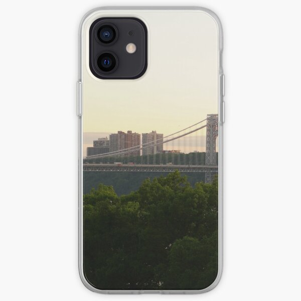 George Washington Bridge and Fort Lee area of New Jersey iPhone Soft Case
