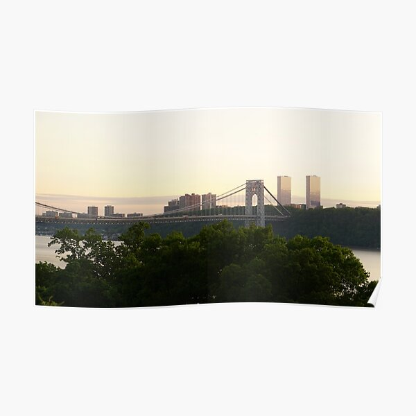 George Washington Bridge and Fort Lee area of New Jersey Poster