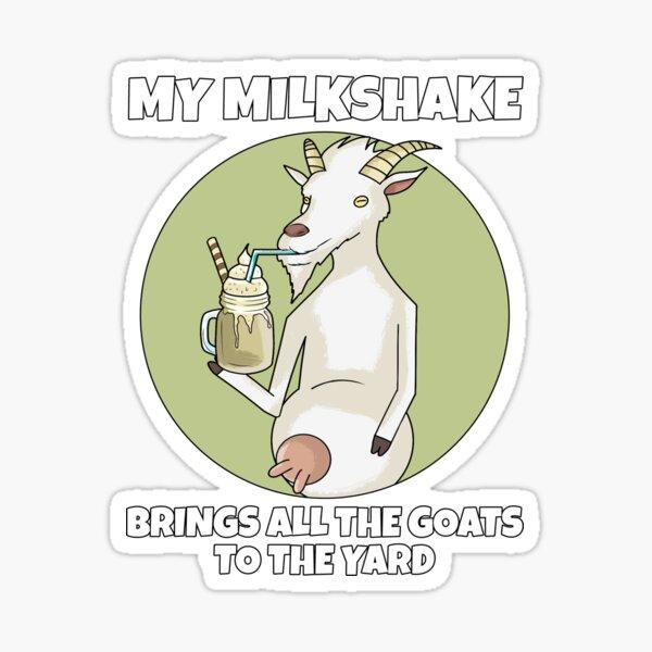 Goat Lover Milkshake Funny Goats Saying Sticker
