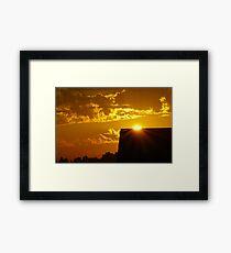 Sunrise over my Neighbor's House Framed Print