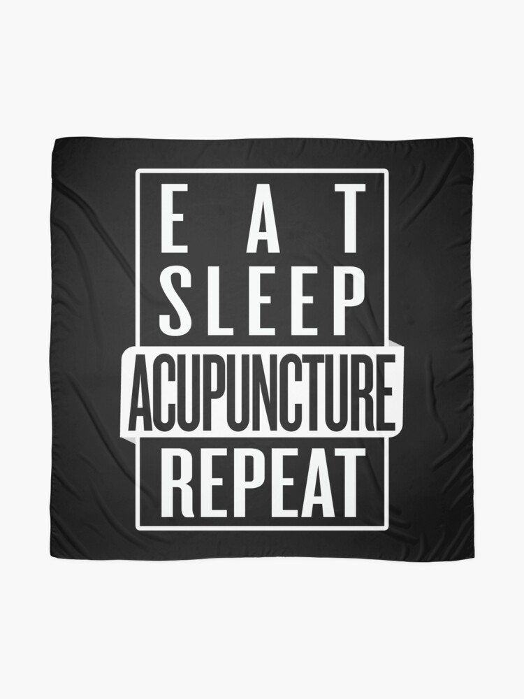 Alternate view of Eat Sleep Acupuncture Repeat Scarf