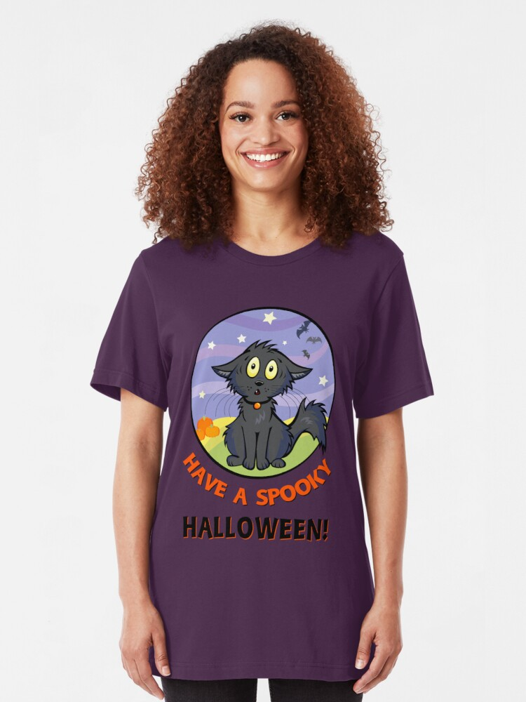 Alternate view of Scaredy Cat - Alternate T-shirt! Slim Fit T-Shirt