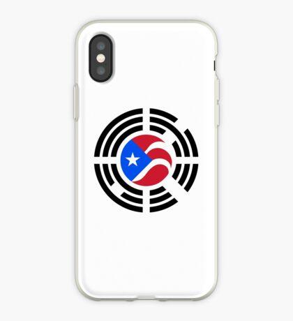 Puerto Rican Korean Multinational Patriot Flag Series iPhone Case