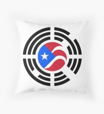 Puerto Rican Korean Multinational Patriot Flag Series Throw Pillow