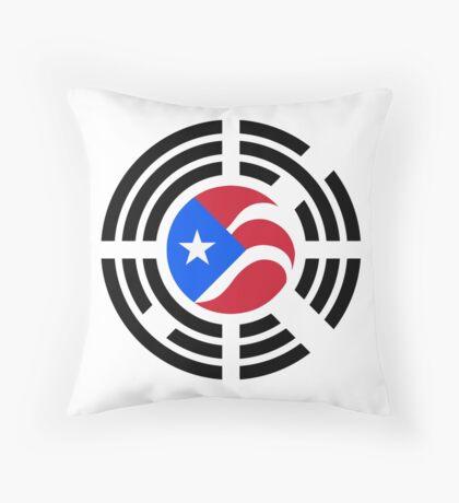 Puerto Rican Korean Multinational Patriot Flag Series Throw Pillow