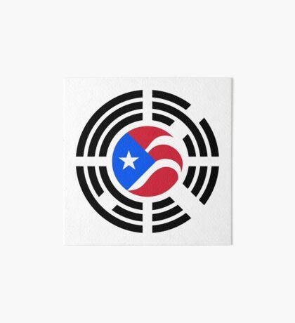 Puerto Rican Korean Multinational Patriot Flag Series Art Board Print
