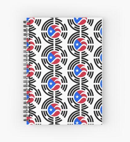 Puerto Rican Korean Multinational Patriot Flag Series Spiral Notebook
